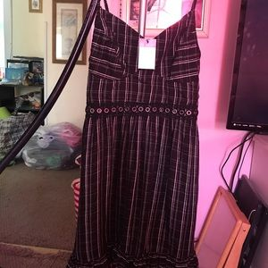 NWT Size 8 Black, Silver, and White Dress